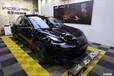 南寧車身改色貼膜,特斯拉Model3黑色改亮金屬大黃蜂色