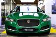 南寧車身改色貼膜,捷豹XFL改色歐瑞飛ORAFL622綠色
