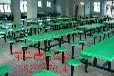 广东快餐桌椅惠州玻璃钢餐桌椅使用年限长的8人位圆凳餐桌椅