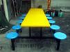 广东十人位圆凳餐桌椅厂家直销可用于韶关学校食堂工厂员工餐桌