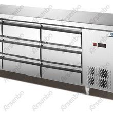 雅绅宝厂家供应卧式不锈钢直冷带抽屉冷柜餐厅厨房冷藏冷冻设备进口压缩机