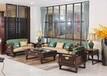 北京哪有賣黑檀新中式家具黑色系紅木沙發餐桌辦公桌巴花大板茶臺的
