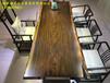 福州卖实木大板批发定制非洲黑檀木巴花大板茶桌办公桌奥坎大板胡桃木沙发床