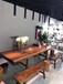 昆明黑檀大板胡桃木书桌实木茶桌茶台实木茶桌原木家具