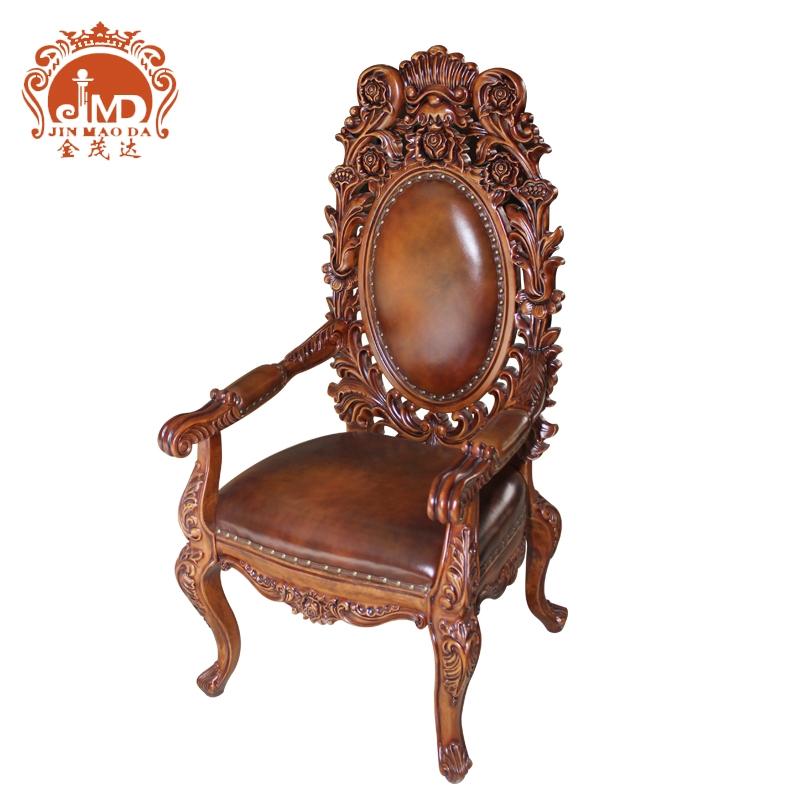 合肥家居金茂达欧式餐桌椅全实木雕花餐桌椅