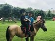 六一領孩子來騎馬??!圖片