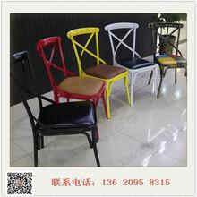 厂家直供钢木家具靠背交叉椅钢管椅子主题音乐餐厅桌椅低价促销
