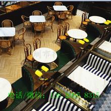 深圳厂家供应香港餐厅餐台凳子设计师定制款布艺扶手餐椅