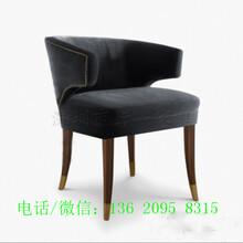厂家供应拾号牛扒实木软包西餐椅设计师定制款-宝安工程案例