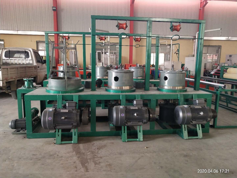 泰煌WL-3型滑轮干式拉丝机组加1000公斤可拆卸工字轮收线机