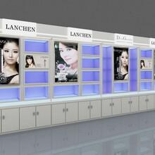化妆品厂家简约现代美容院陈列柜韩式面膜护肤品展柜护肤品背柜
