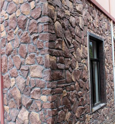 外墙的欧式室外文化石背景墙10088图片