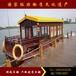 江蘇興化出售9-18米木質旅游觀光電動畫舫船景觀裝飾小木船