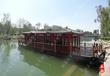电动船画舫游船玻璃钢观光船大型餐饮船公园仿古木船画舫船