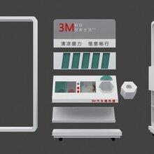 济南汽车配件展柜效果图设计,济南汽车配件展柜设计与制作