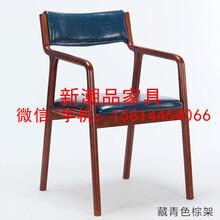 北欧简约实木餐椅酒吧创意休闲椅奶茶店餐厅椅子水曲柳扶手椅定做
