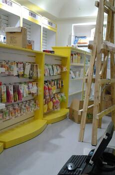 可愛可親貨架生產廠家定做可愛可親母嬰陳列柜臺