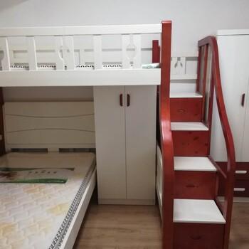 兒童實木子母床L型T床設計定做衣柜寫字桌隨意搭配