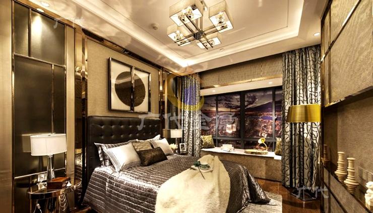 结合简约欧式风格的家居不锈钢屏风