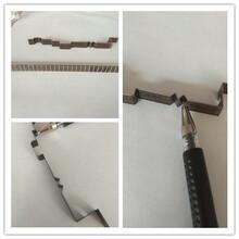 天津北京沧州不干胶印刷厂家激光刀模设备选用华正源ZY-320A弯刀机图片