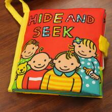 澳洲JOLLYBABY/快乐宝贝早教玩具书婴儿早教布书外贸玩具布书图片