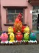 南京展览庆典活动各款摆件财神爷鸡年各款鸡棒棒糖仿真模型租售