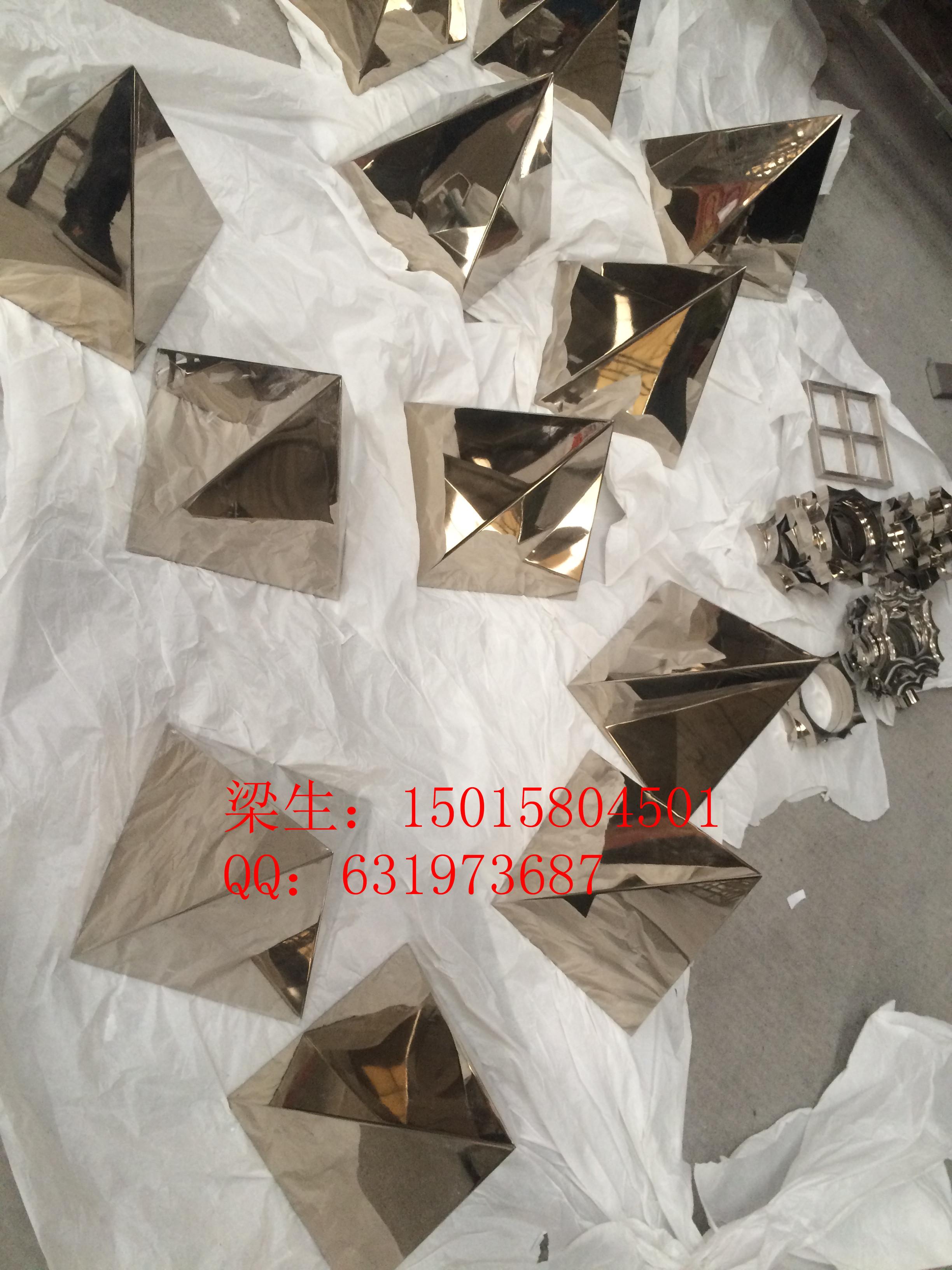 定制不锈钢金字塔摆件不锈钢镜面精抛光工艺品