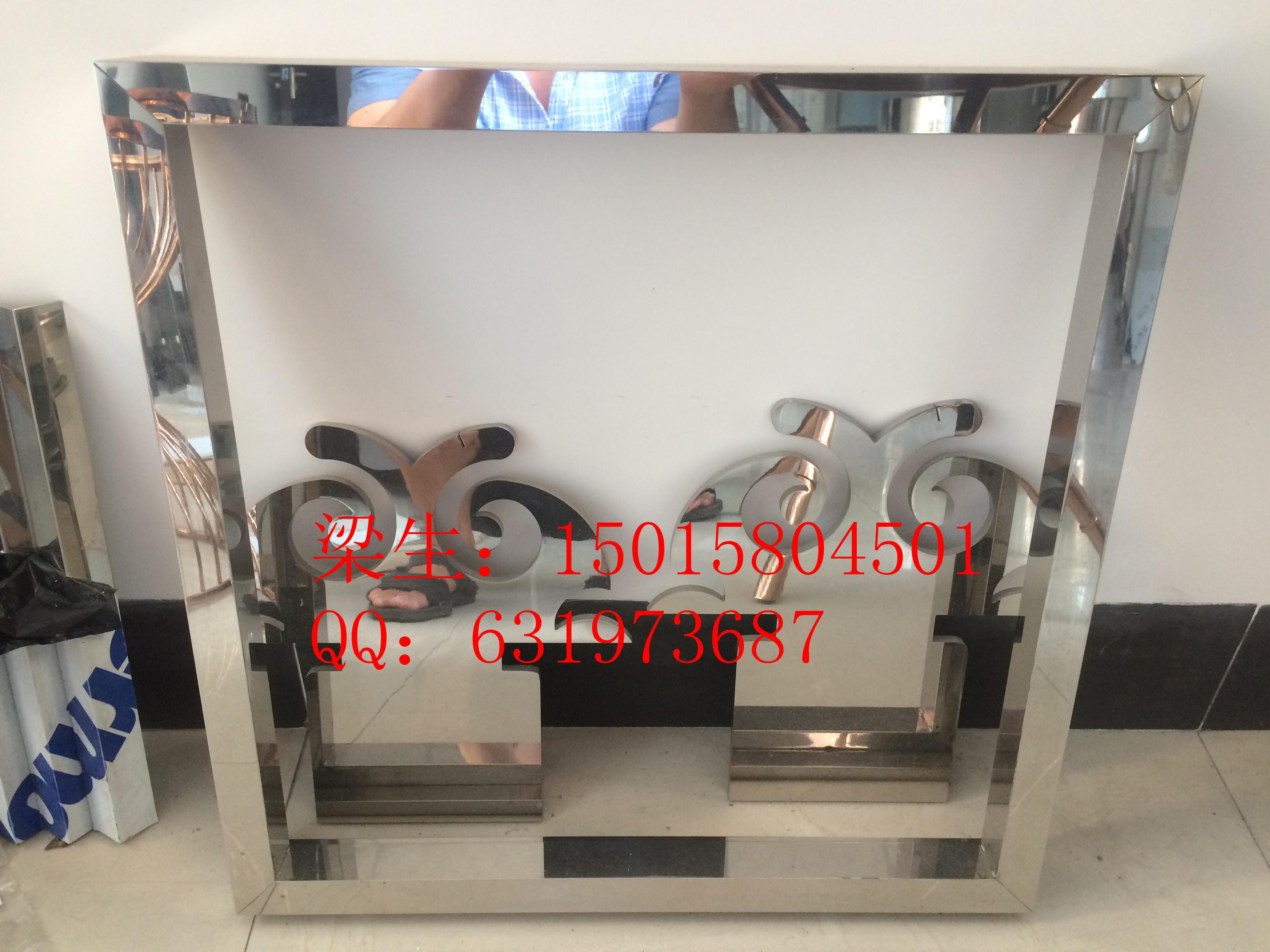 定制批发咖啡厅不锈钢镜面钛金装饰边框画框金属壁框