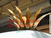 定制批发不锈钢异形五角星钛金装饰树叶花冠