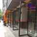 商务办公楼钢化玻璃门大厦会所大堂精装修不锈钢地弹门