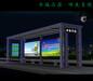 公交候车亭生产厂家候车亭灯箱制作候车亭的尺寸