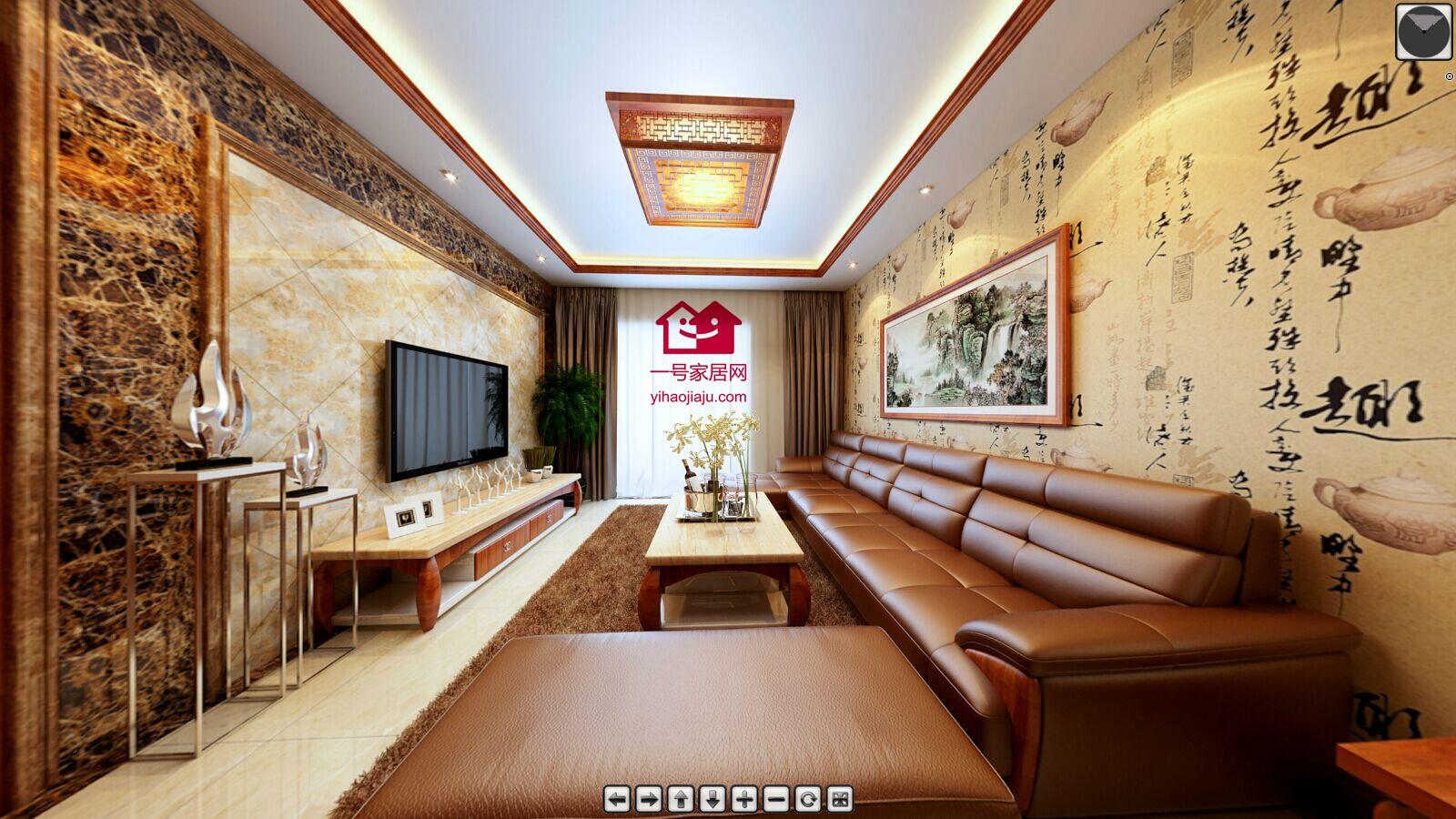 扬州湖滨名都110平新中式装修-扬州一号家居网图片