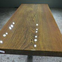鸡翅木实木大板原木几整木办公桌工厂直销特价现货价格美丽图片
