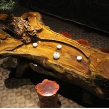 鸡翅木根雕茶桌整木树根茶台原木茶海工厂直销价格优势特价现货送图片