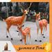 梅花鹿雕塑,彩绘不锈钢雕塑,浙江雕塑有限公司专业定制