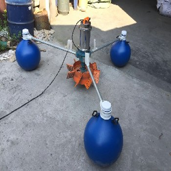 1500w220v1.5kw叶轮式增氧机3个浮球增氧机
