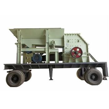 组合轮胎式移动破碎站建筑垃圾移动破碎机时产100吨移动破碎站