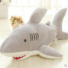玩具大白鲨鲨鱼毛绒玩具公仔抱枕生日礼物