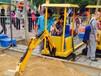 游乐设备!大型仿真儿童挖掘机360度旋转儿童挖掘机