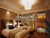 内蒙古酒店家具设计、宾馆大床+床头柜+沙发组合、酒店工程家具定制、华艺宏宇品牌家具