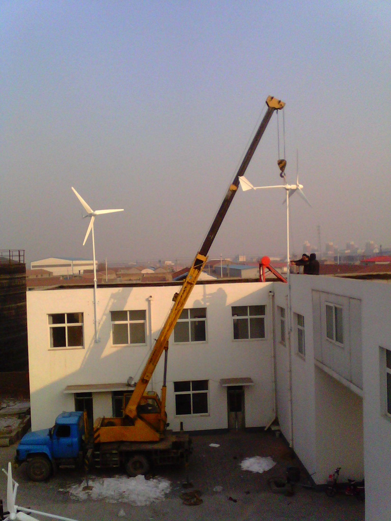 怀柔屋顶安装风力发电机2000瓦户外使用晟成制造