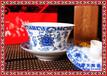古典传统青花陶瓷盖碗生产定制工艺礼品陶瓷盖碗厂家