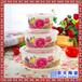 定做日用保鲜碗家居厨房陶瓷保鲜碗青花花卉保鲜碗