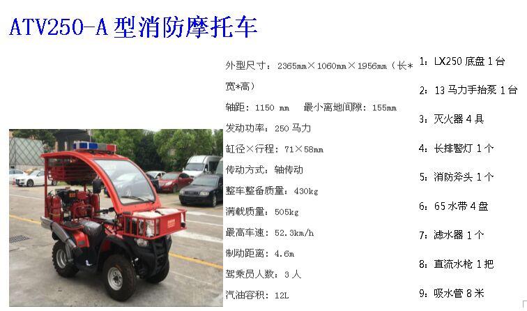 消防250手抬泵四轮摩托车价格