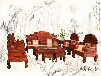 怎样判断大红酸枝沙发是否是打蜡工艺如意沙发组合