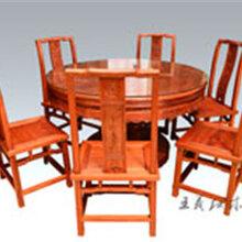 休闲红木餐桌家具七件套红木餐桌家具选王义红木大师图片