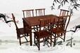 大红酸枝餐台家具榫卯结构餐厅餐台家具真材实料设计