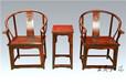 王义大师老挝大红酸枝圈椅古典圈椅家具美观大方