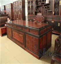 大红酸枝办公桌家具工艺小知识介绍名贵硬木办公桌家具三件套
