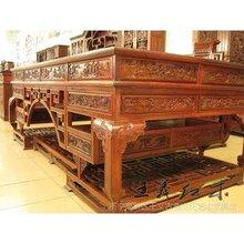 木材百科—优质大红酸枝办公桌家具办公桌家具稀有硬木雕花